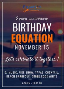 Equation 5 ans anniversaire centre plongée aux Philippines
